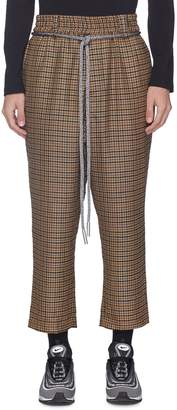 Necessity Sense Belted wool houndstooth cropped pants