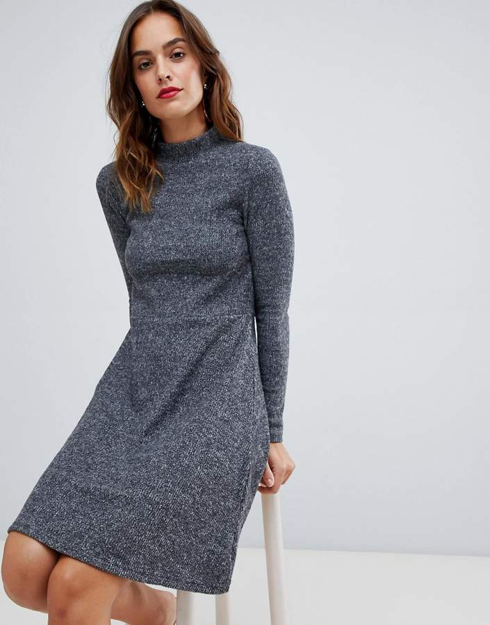 Y.A.S Brushed Rib Knitted Skater Dress