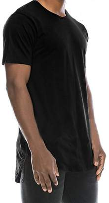 Stylish&Young Mens Casual Basic Hipster Hip Hop Round Neck Short Sleeve Slim Fit T Shirts (S, )