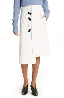 Tibi Mora Asymmetrical Faux Wrap Skirt