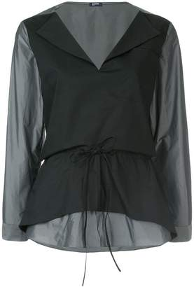 Jil Sander Navy classic shift blouse