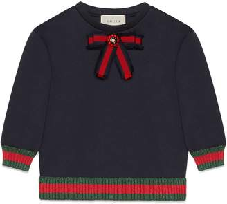 Gucci Kids Children's jersey sweatshirt with bow