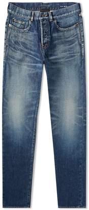 Saint Laurent Heavy Used Slim Fit Jean