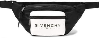 Givenchy Logo-Print Glow-in-the-Dark Canvas and Shell Belt Bag - Men - Black