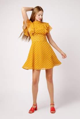 Azalea Polka Dot Flutter Sleeve Dress