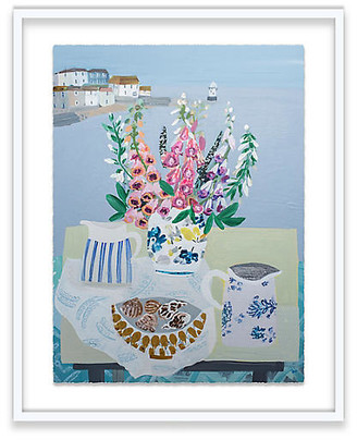 One Kings Lane Foxgloves and Winkles Painting Art