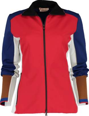 Marni Color Block Double Zip Scuba Jacket