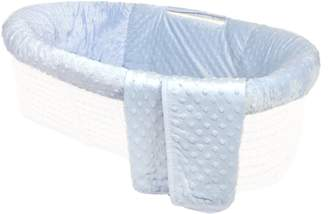 Tadpoles Minky Dot Moses Basket Bedding Only