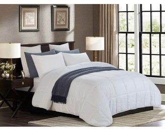 Lorient Home All Season White Quilted Goose Down Alternative Comforter - Oversized Full/Queen