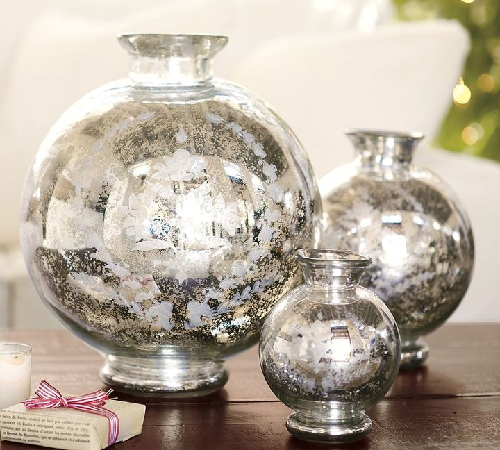 Etched Mercury Vases