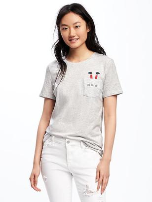 Relaxed Crew-Neck Tee for Women $12.94 thestylecure.com