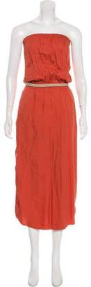 MICHAEL Michael Kors Strapless Maxi Dress