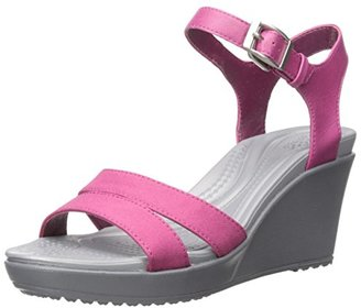 crocs Women's Leigh II Ankle Strap Wedge $54.99 thestylecure.com