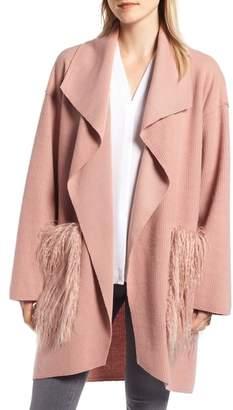 Sosken Giova Brushed Rib Knit Coat
