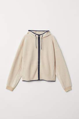 H&M Pile Hooded Jacket - Beige