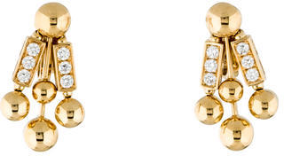 Bvlgari Bvlgari 18K Diamond Rod Ear Clip Earrings