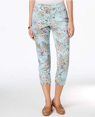 Charter Club Petite Printed Capri Pants, Created for Macy's
