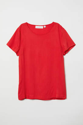 H&M Short-sleeved Blouse - Red