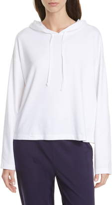 Eileen Fisher Boxy Stretch Organic Cotton Hoodie
