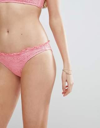 Asos DESIGN Mix and Match Crochet Micro Brazilian Bikini Bottom