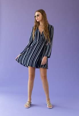 Azalea Stripe Wrap Dress