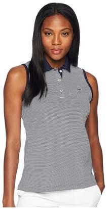Vineyard Vines Golf Sleeveless Stripe Pique Sport Polo Women's Clothing
