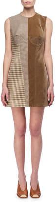 Stella McCartney Velvet & Check Bustier Minidress