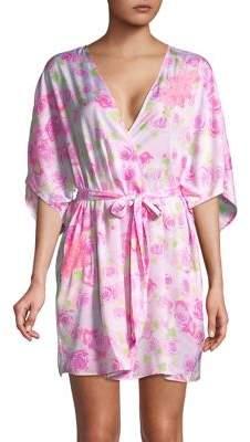 Betsey Johnson Rose-Print Robe