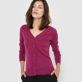 La Redoute Collections Pure Cashmere Jersey V-neck Cardigan