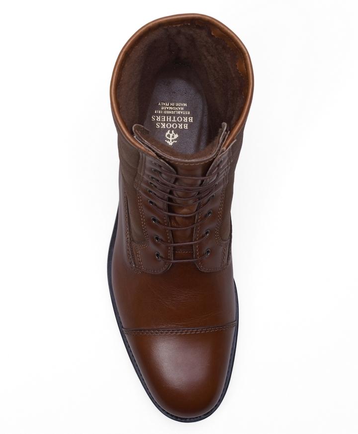 Brooks Brothers Shearling Boots