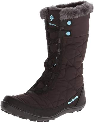 Columbia Minx Mid II WP Snow Boot (Little Kid/Big Kid), Black/Iceberg