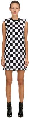 Versus Checkerboard Print Sable Dress