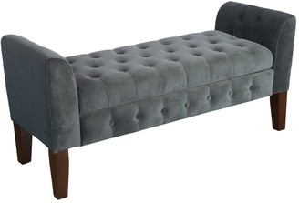 HomePop Velvet Settee Storage Bench