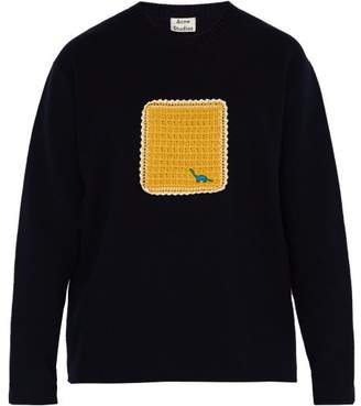 Acne Studios Kalmar Cotton Blend Sweater - Mens - Navy