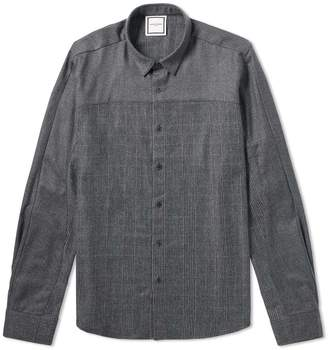 Wooyoungmi Wool Check Panel Shirt
