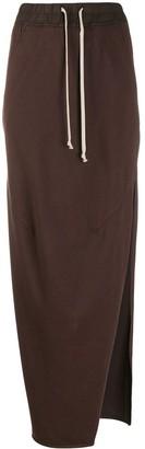 Rick Owens drawstring waist jersey skirt