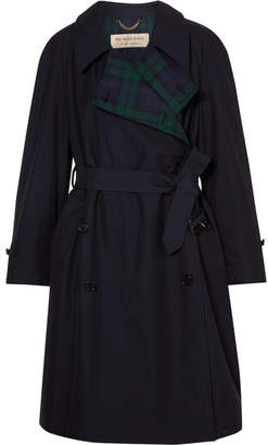 Burberry The Charwood Cotton-gabardine Trench Coat - Navy