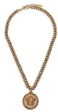 Versace Medusa Strass Chain Pendant Necklace