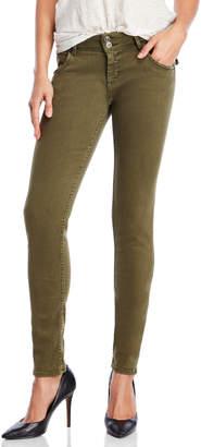 Hudson Collin Olive Flap Pocket Skinny Jeans