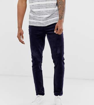 Asos Design DESIGN Tall slim pants in navy cord