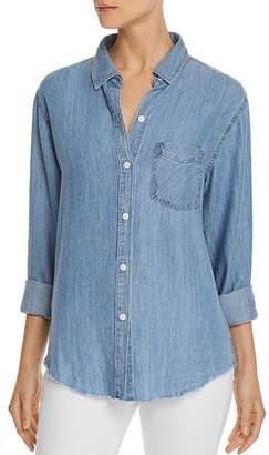 Rails Ingrid Raw-Edge Chambray Shirt