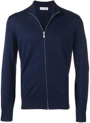 Brunello Cucinelli front zip sweater