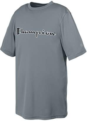 Champion Boys` Double Dry Graphic T Shirt, L