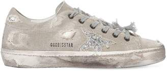 Golden Goose 20mm Super Star Linen & Glitter Sneakers
