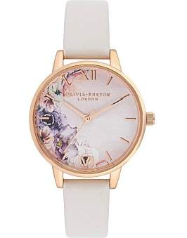 Olivia Burton Water Colour Florals Midi Dial Watch