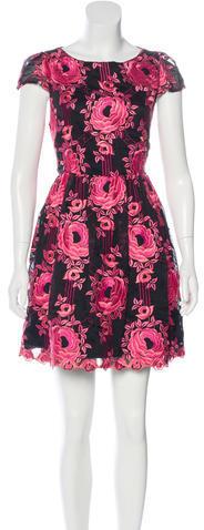 Alice + OliviaAlice + Olivia Jacquard Silk Dress