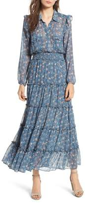 MISA LOS ANGELES Aydeniz Ruffle Tiered Dress