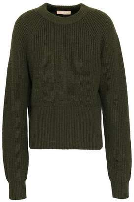 Michael Kors Ribbed Cashmere And Mohair-blend Sweater