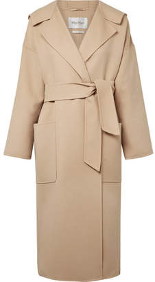 ... Max Mara Hooded Wool And Cashmere-blend Coat - Beige