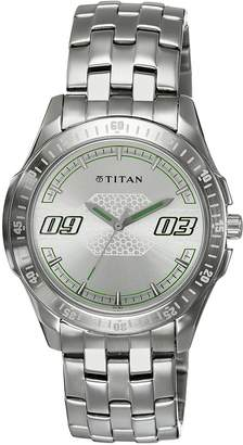 Titan Youth Analog White Dial Men's Watch - 1587SM01